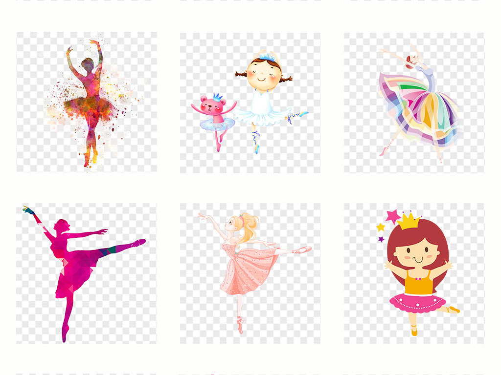 免抠元素 人物形象 动漫人物 > 卡通儿童舞蹈培训招生png素材  素材