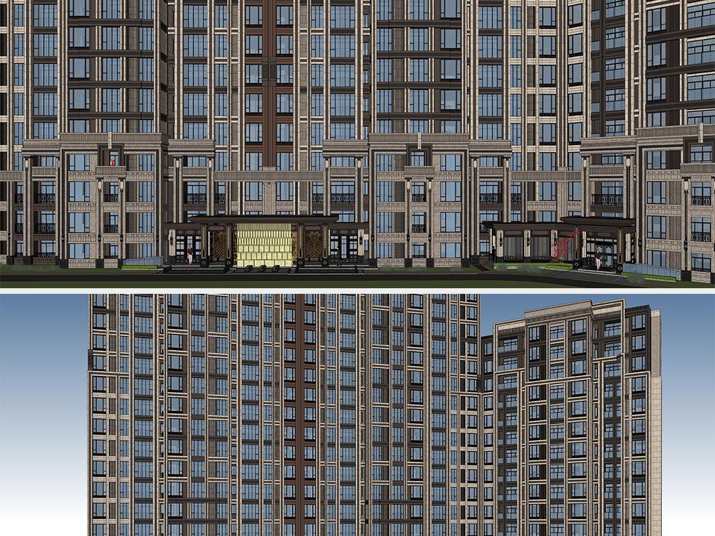 新亚洲建筑_新亚洲现代高层住宅小区建筑设计