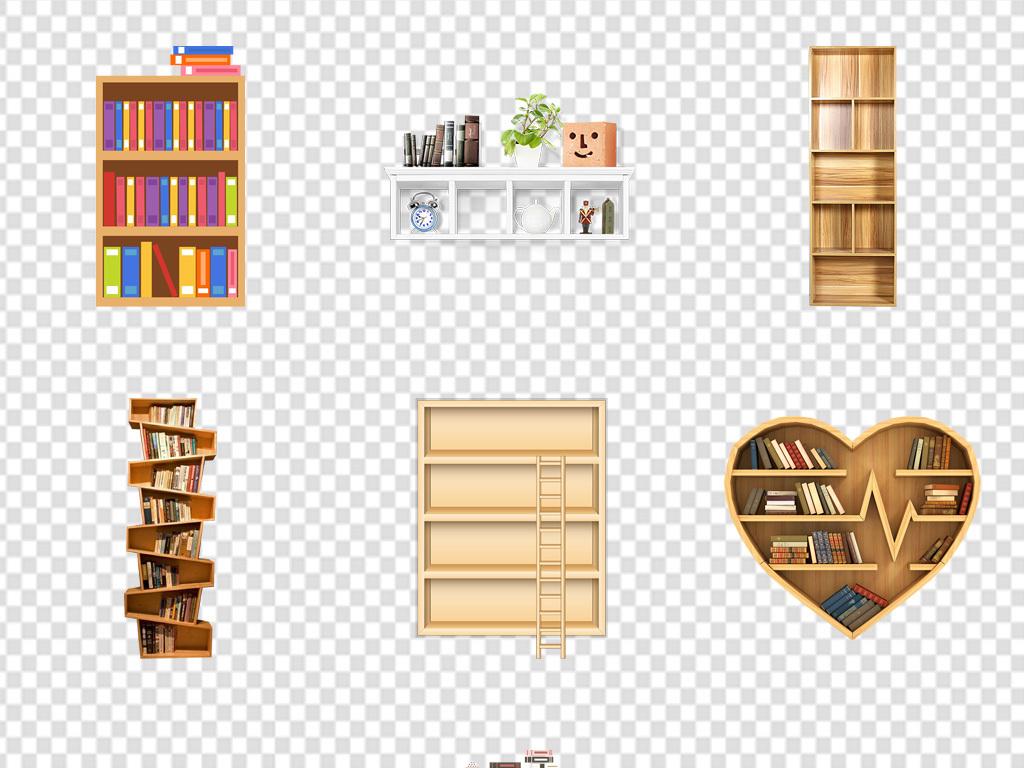 卡通图书馆阅览市书架展架海报背景png图片