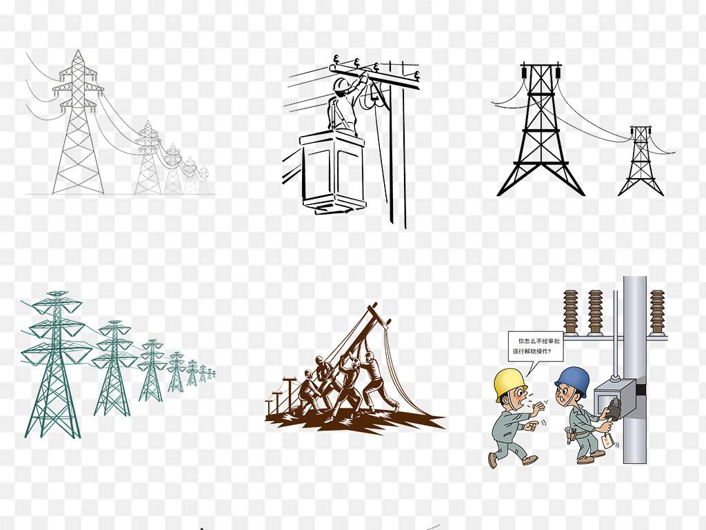 电线杆安全用电png图片
