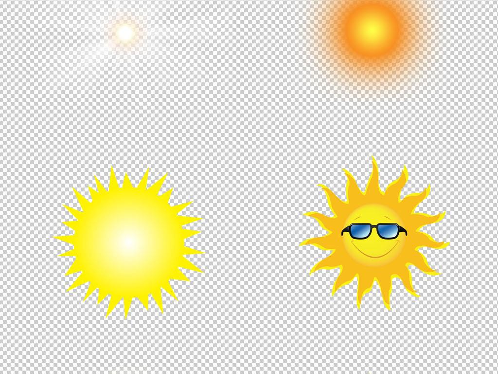 原创卡通风手绘太阳阳光png免扣素材图片下载