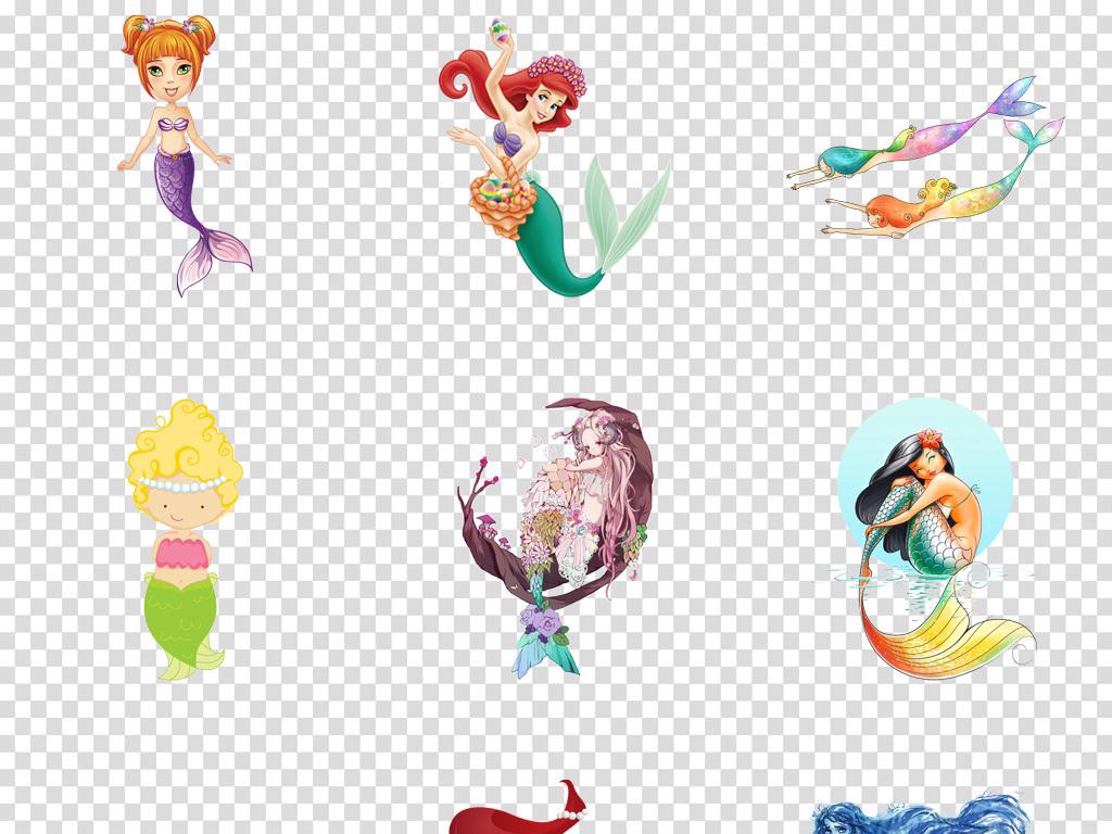 唯美梦幻卡通人鱼公主美人鱼海报背景png图片