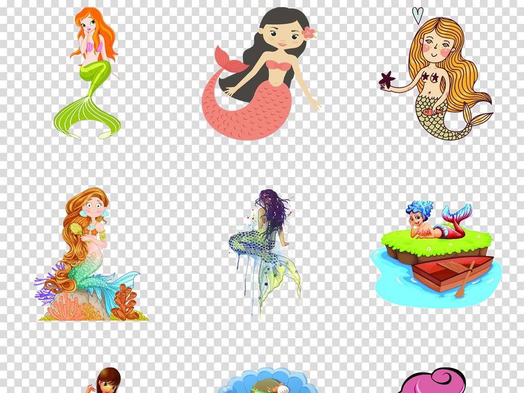 免抠元素 人物形象 动漫人物 > 卡通唯美童话世界人鱼公主美人鱼图片