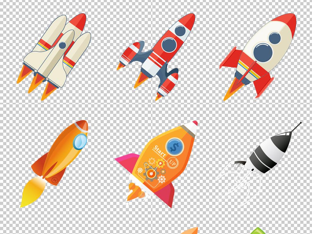 免抠元素 科技素材 其他 > 卡通小火箭png免扣元素  素材图片参数图片