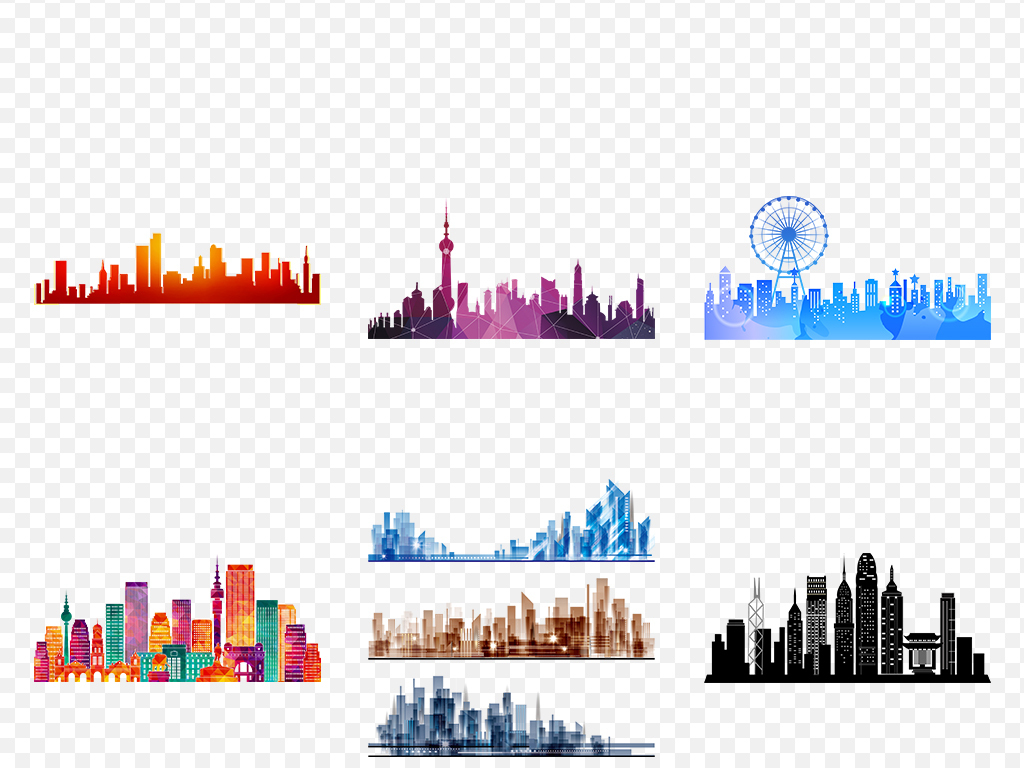 高楼图片文明城市风景大