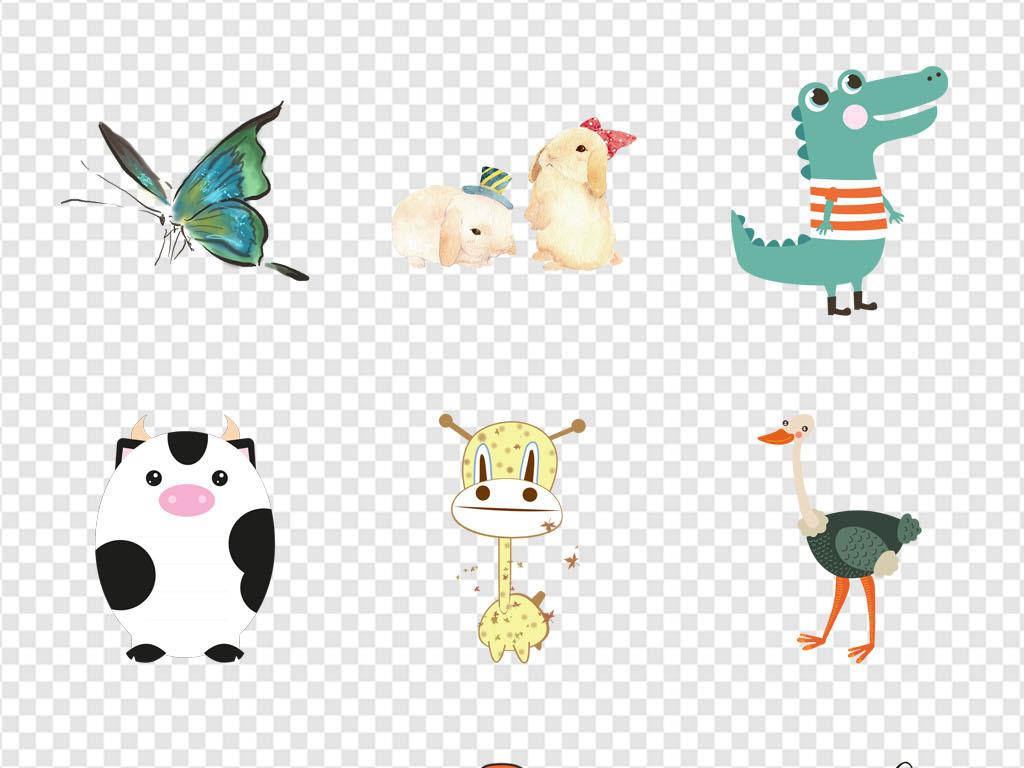 幼儿园手绘水彩彩绘背景动物海报作业素材