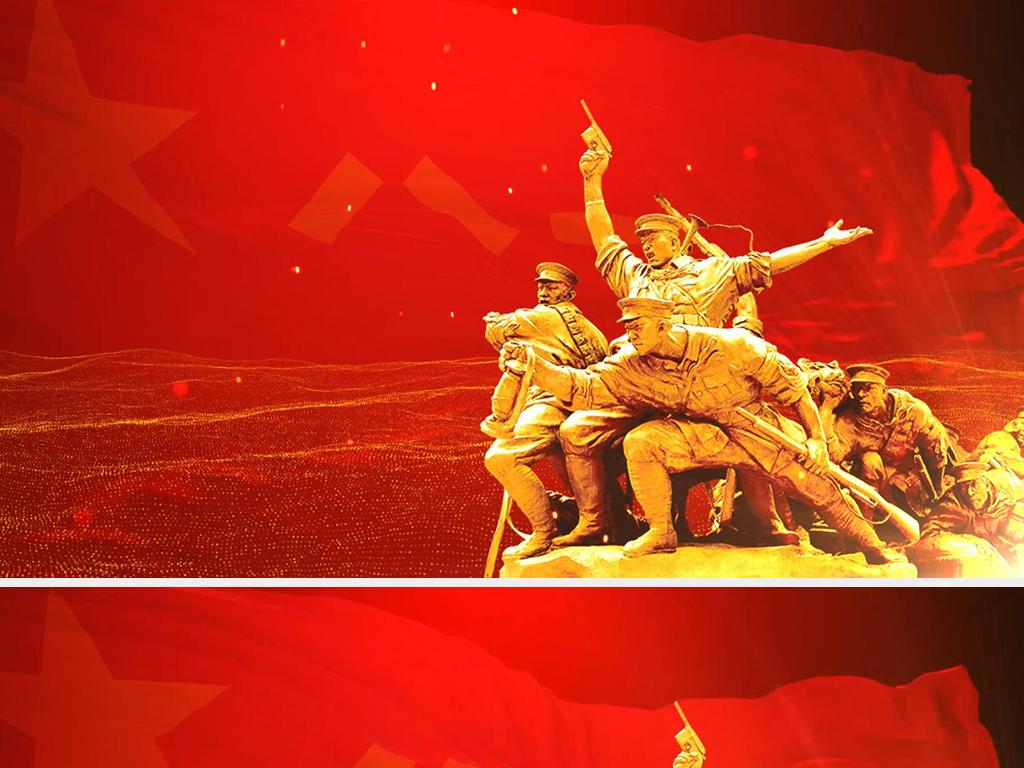军人可以倒下,军旗不能倒下--最震撼感人的军旗照片