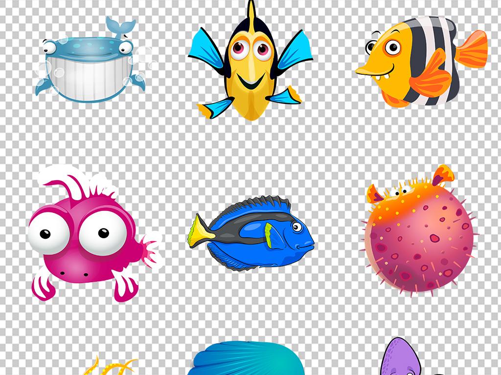 海龟龙虾深海鱼鱼鲸鱼水草水母海马海带珊瑚海洋生物海底图片