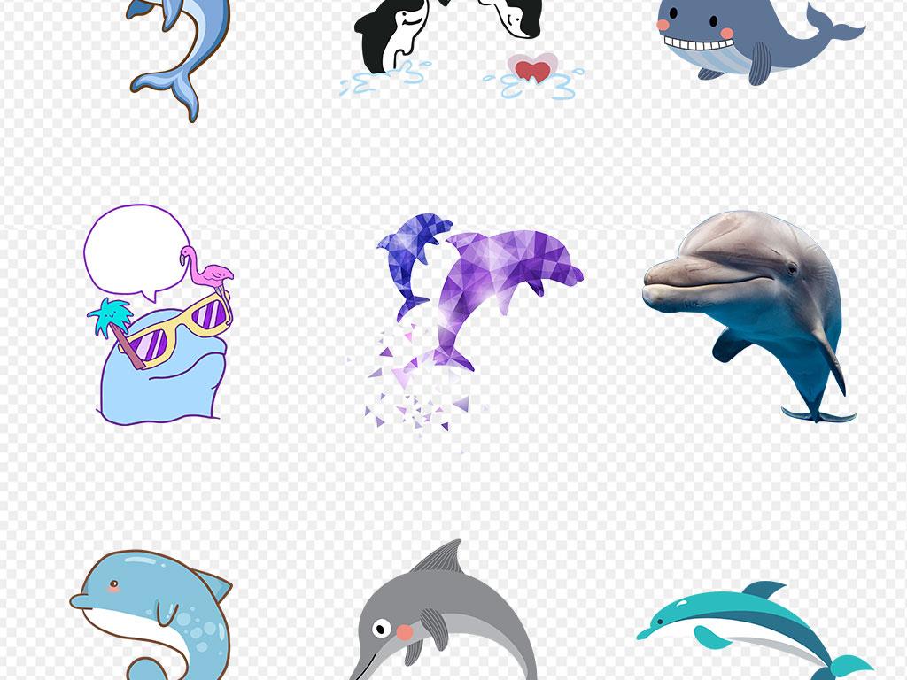卡通海豚                                          手绘