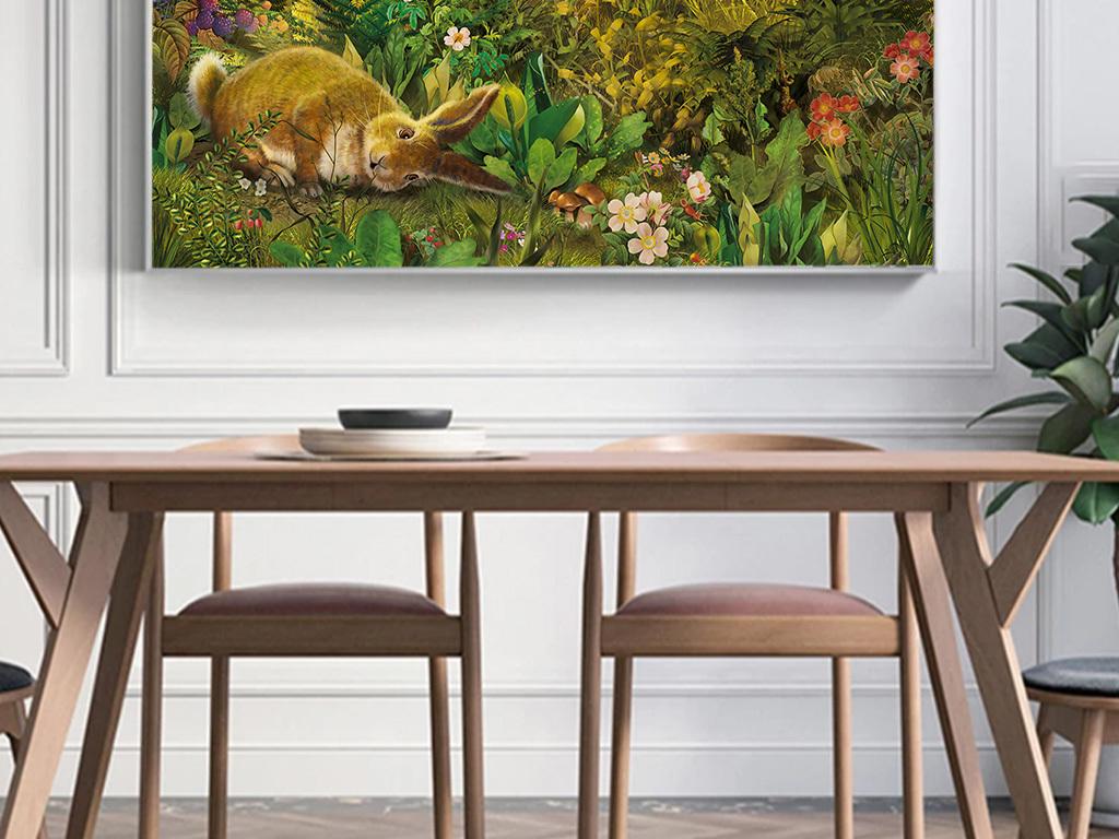唯美大自然手绘风景油画风景无框画