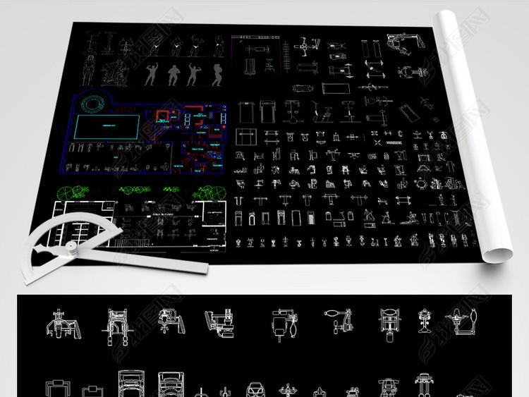 健身房CAD图纸