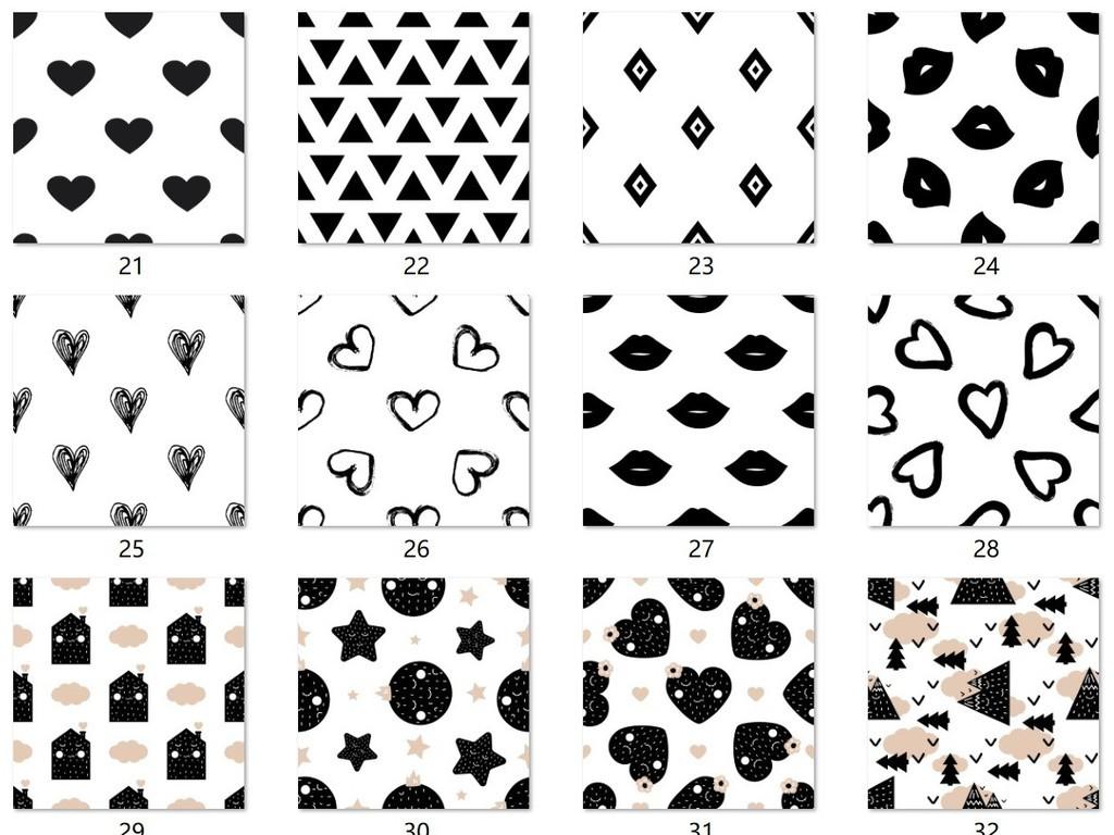 手绘                                          线条卡通图形黑白