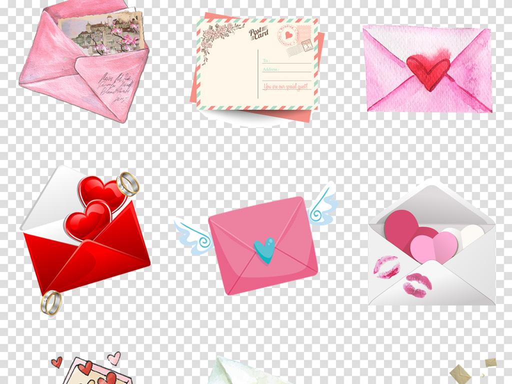 心邮件信件情书告白心动七夕情人节背景素材图片 模板下载 20.00MB