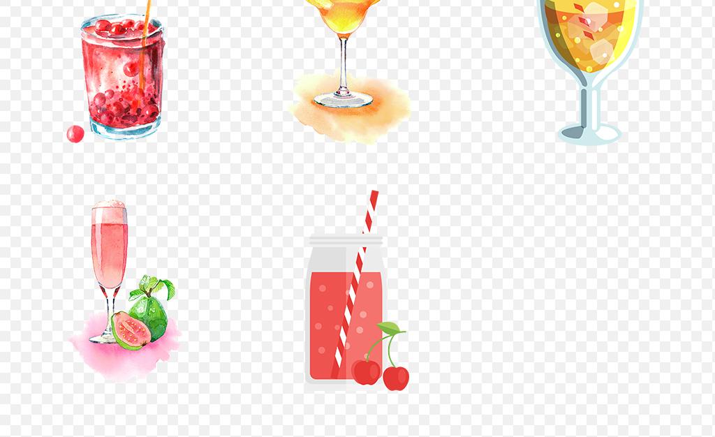水彩手绘果汁饮品饮料冷饮海报素材背景图片png