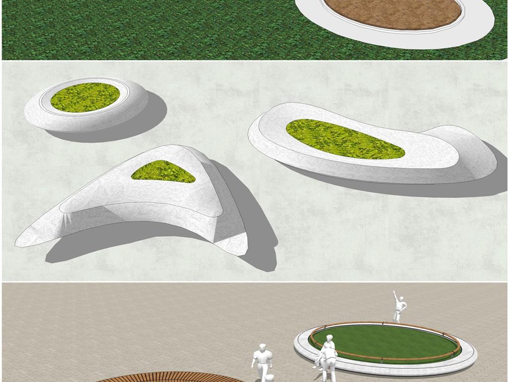 坐凳景观创意中式户外别墅景观公园小区欧式风格现代中式公园景观现代图片
