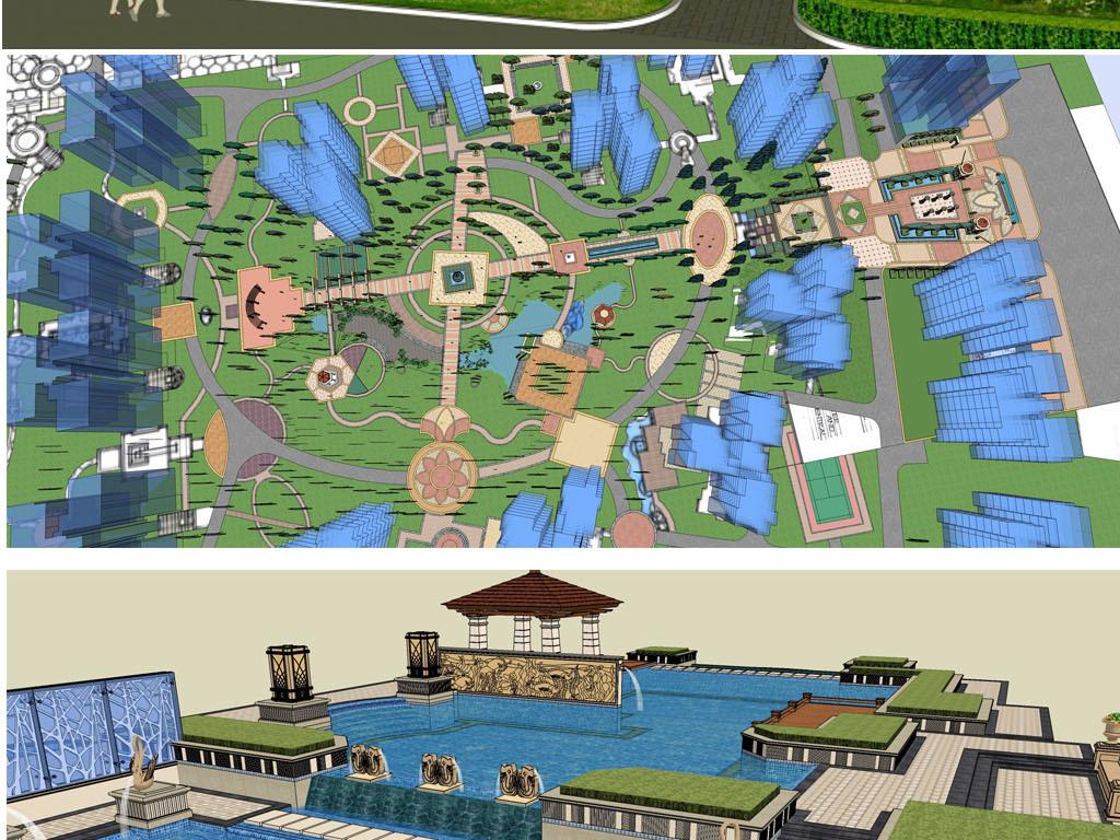 小区园林景观设计图下载(图片201.83mb)_城市规划库