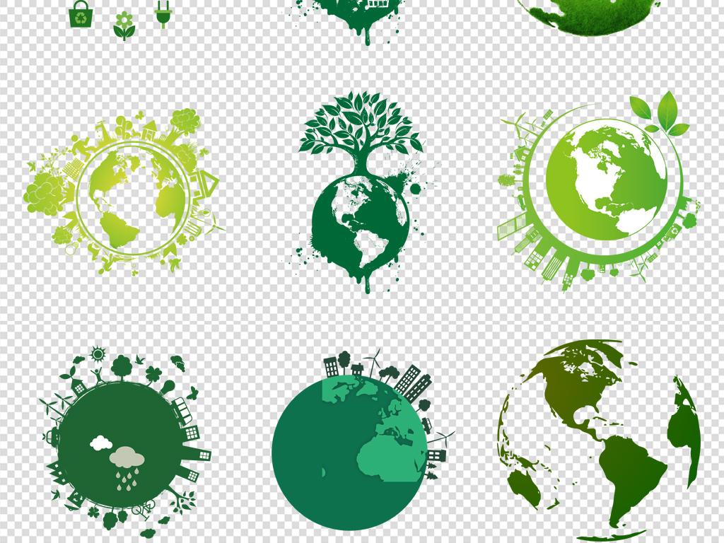 卡通手绘地球保护环境png免扣元素