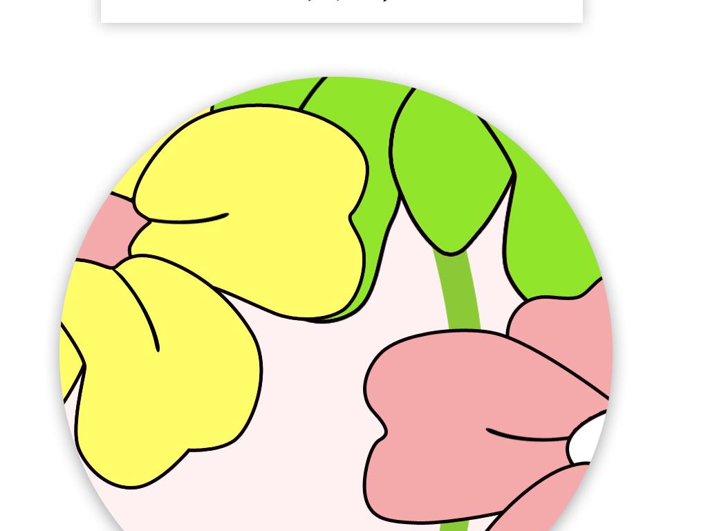 手绘卡通动漫猫咪花朵花瓣时尚儿童房背景墙