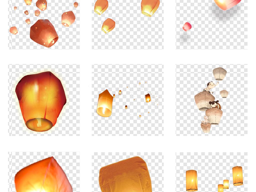 彩灯七夕灯笼图片卡通灯笼