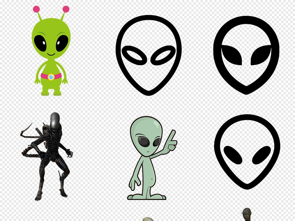 宇航服卡通手绘外星飞船图案太空宇宙行星科幻细菌素材设计素材外星人