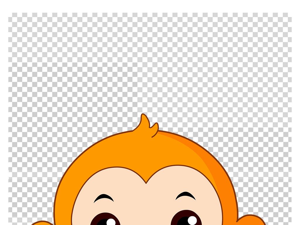 可爱卡通猴子矢量图