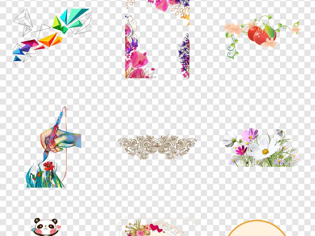 免抠元素 花纹边框 卡通手绘边框 > 手绘花朵卡通手绘花朵粉色小花
