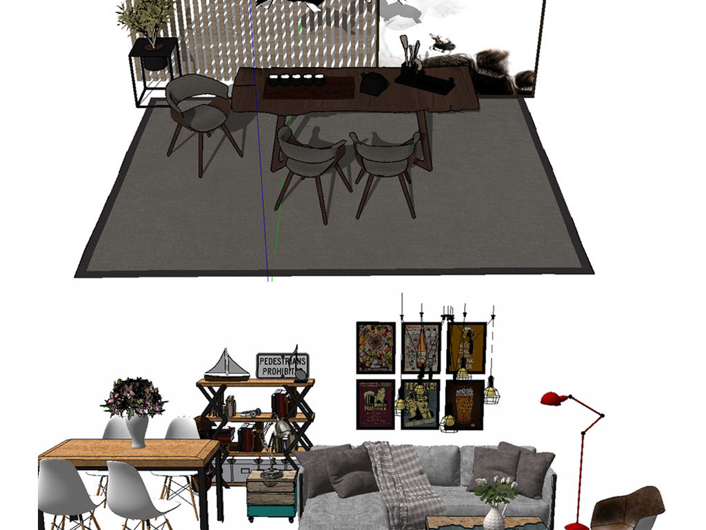 现代家具组合设计图下载(图片353.41mb)_其他库_室内