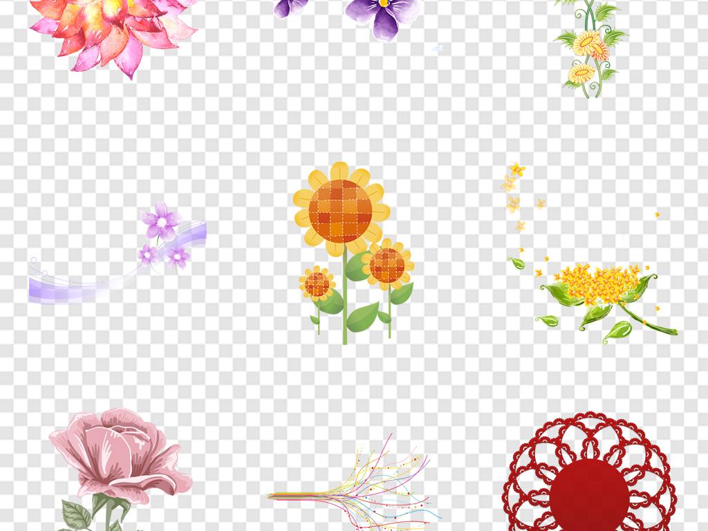 花草边框植物边框花边边框卡通小花卡通花