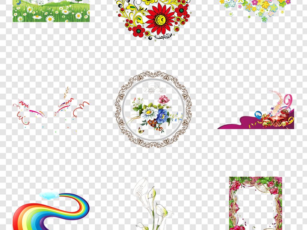 卡通小花手绘小花