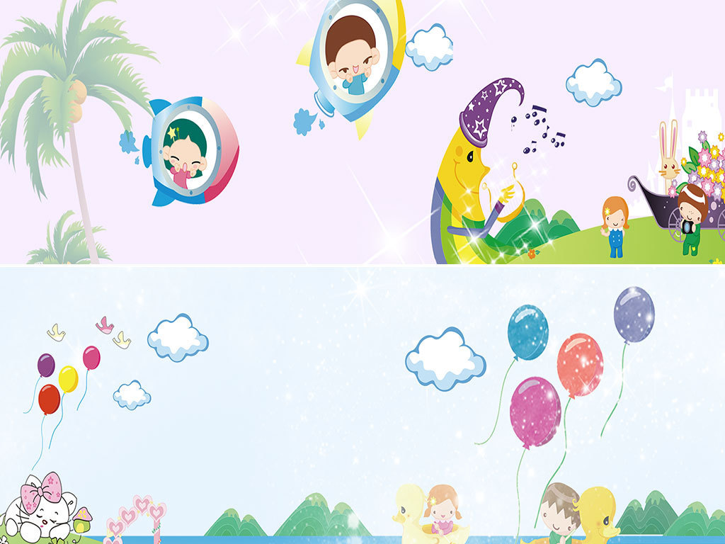 banner图 卡通/手绘 > 儿童卡通小清新开学季海报banner背景  素材