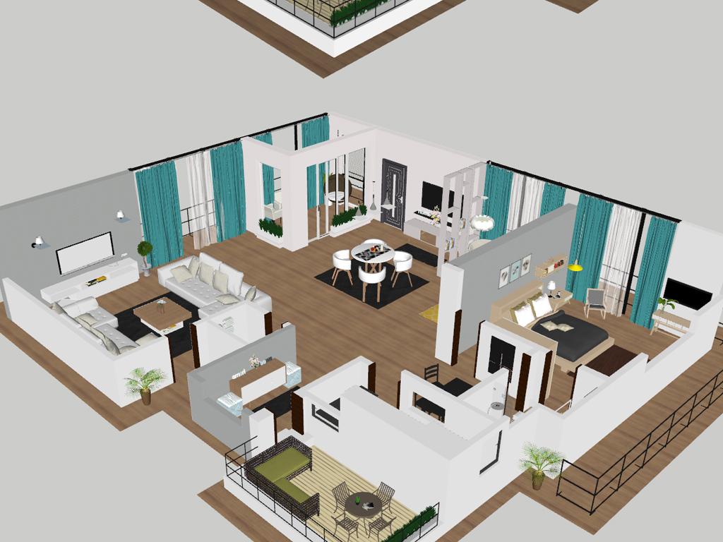房子su3d模型