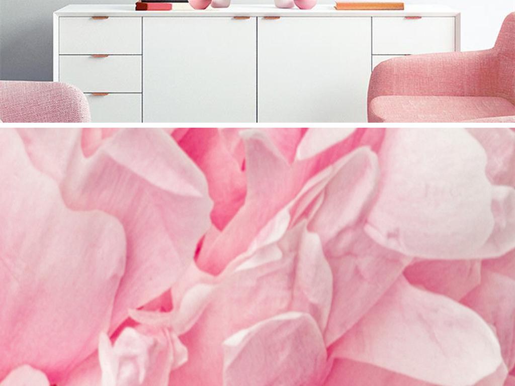 北欧现代简约小清新植物花卉横幅床头装饰画