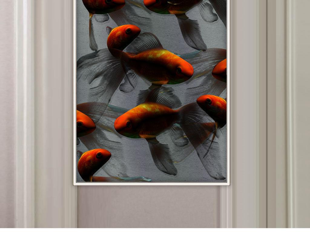 新中式古典手绘锦鲤游鱼意境装饰画图片设计素材 高清psd模板下载 228.30MB 其他大全图片