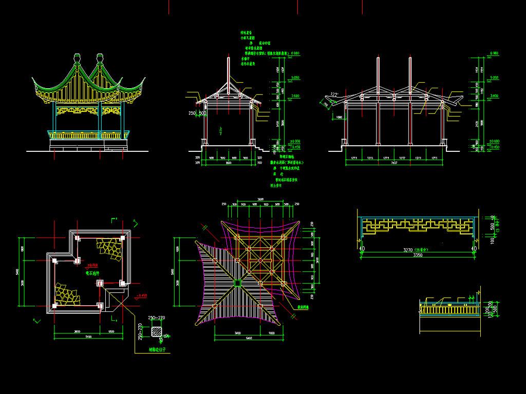 中国古典建筑cad图纸