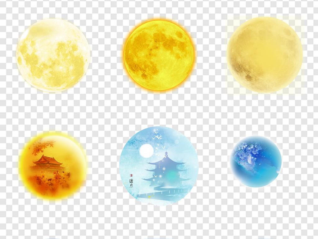 花纹边框 卡通手绘边框 > 中秋节月亮满月弯月图案唯美  素材图片参数