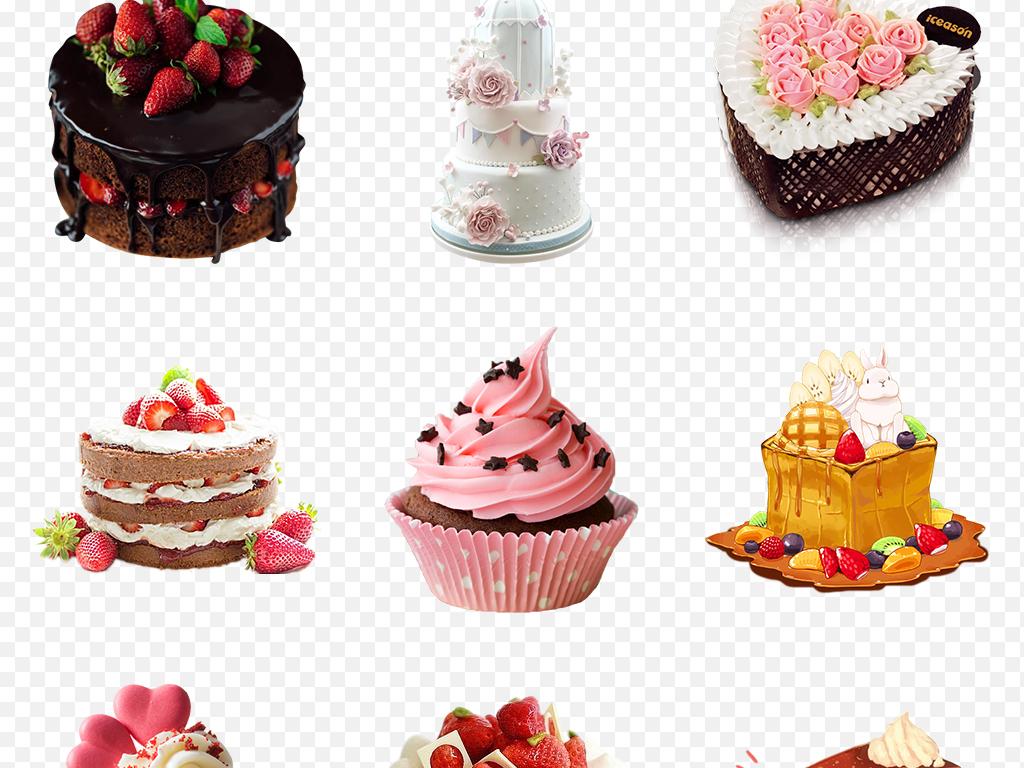 甜品手绘蛋糕下午茶点心海报素材背景图片png