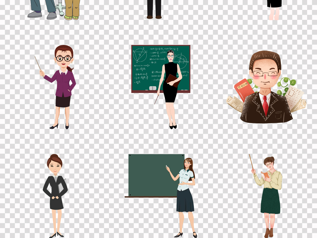 老师画像简笔画