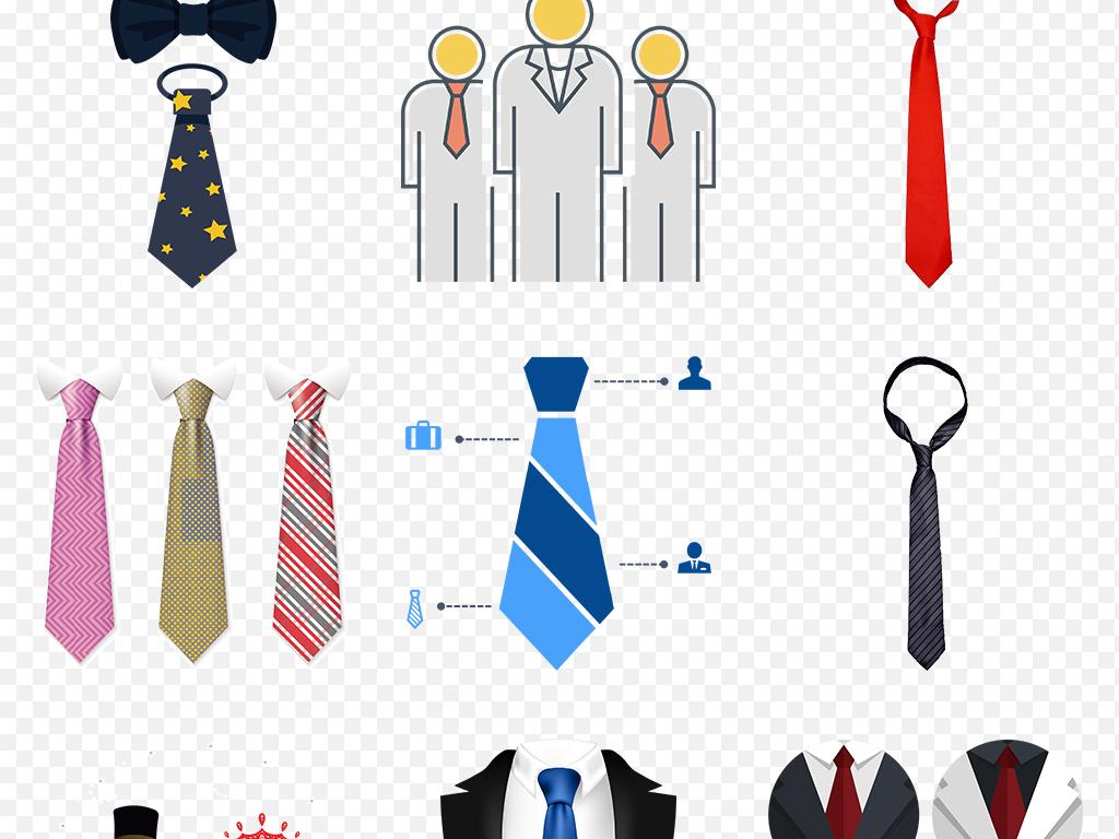 卡通手绘商务人物领带海报素材背景图片png