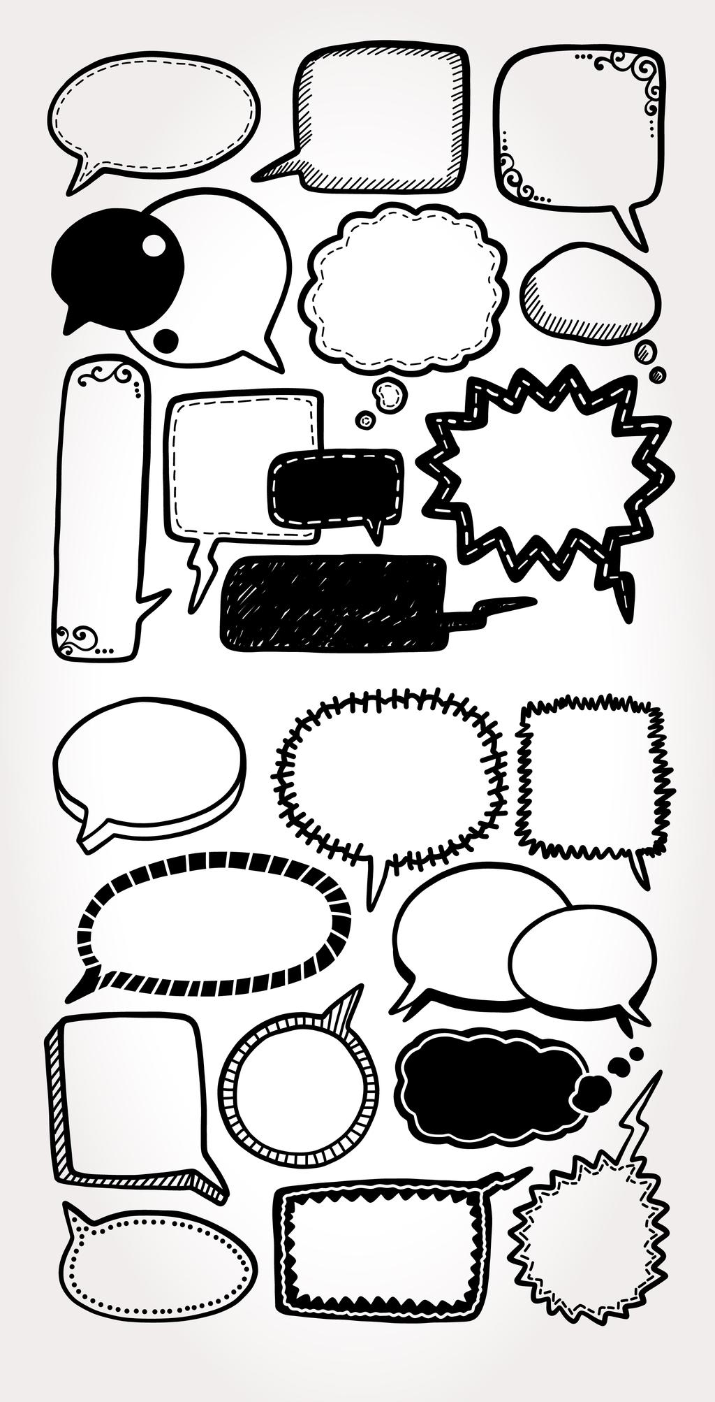 气泡对话框设计矢量元素
