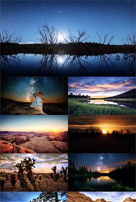 唯美地球风景延时摄影高清视频素材下载