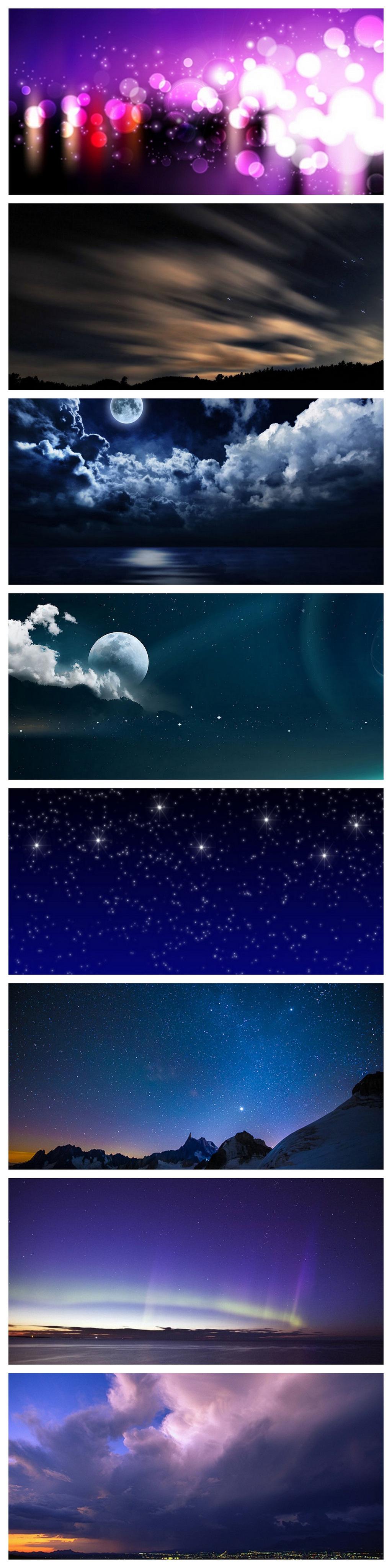 夜景城市星空效果背景素材商務背景星星