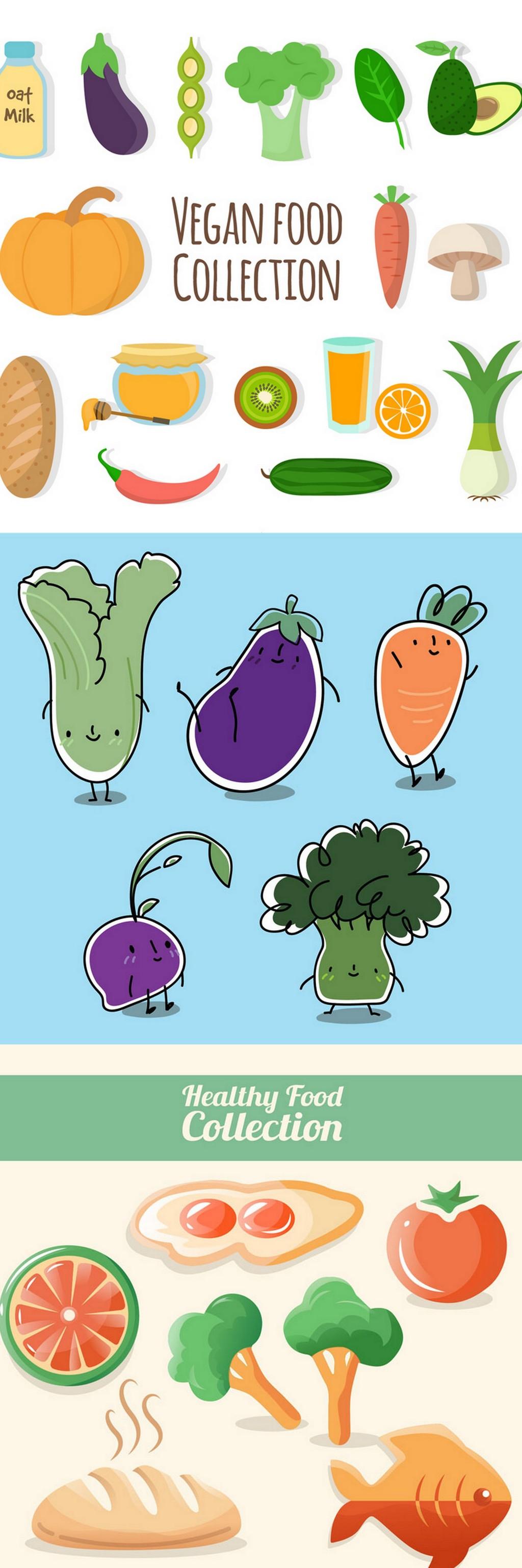 卡通蔬菜                                    卡通食物