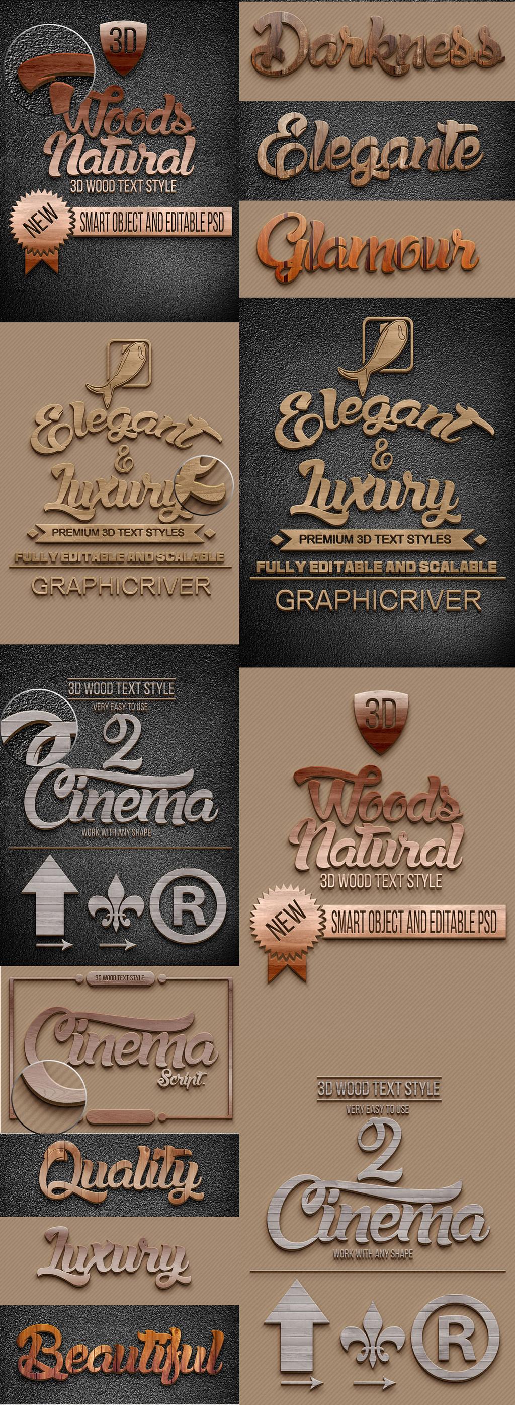 设计真皮木头纹路木质艺术字体皮革背景