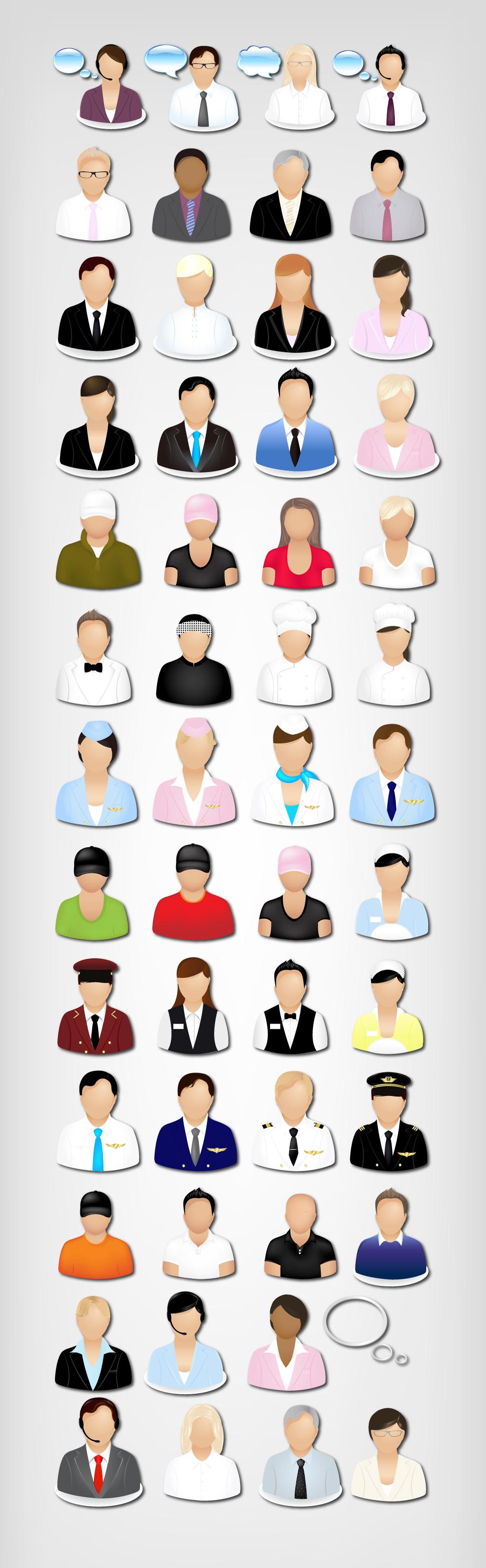 背景元素网站手机商务人士头像默认图标