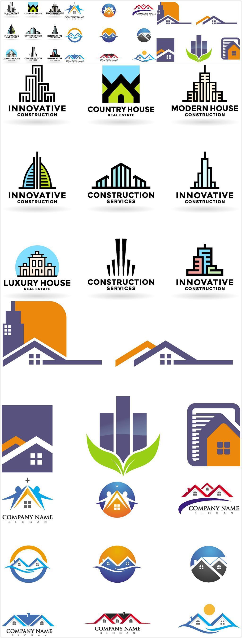 手绘城市建筑logo图片设计素材_高清ai模板下载(1.29)