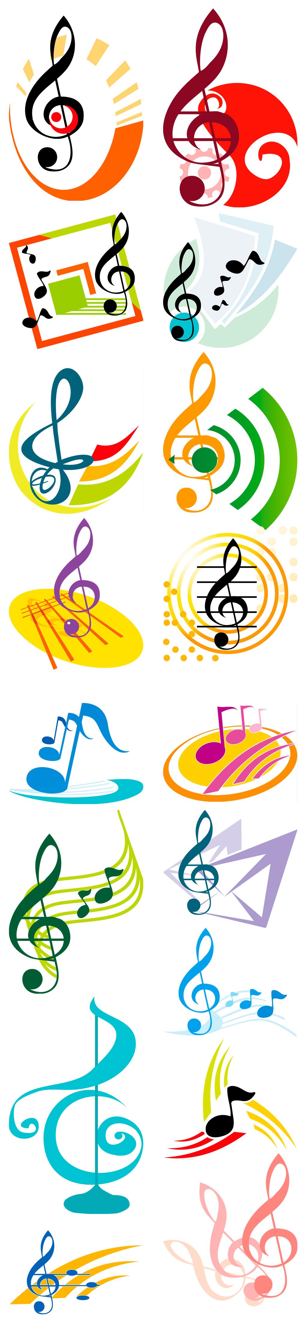 矢量音乐音符图标素材图片设计_高清ai模板下载(17.95