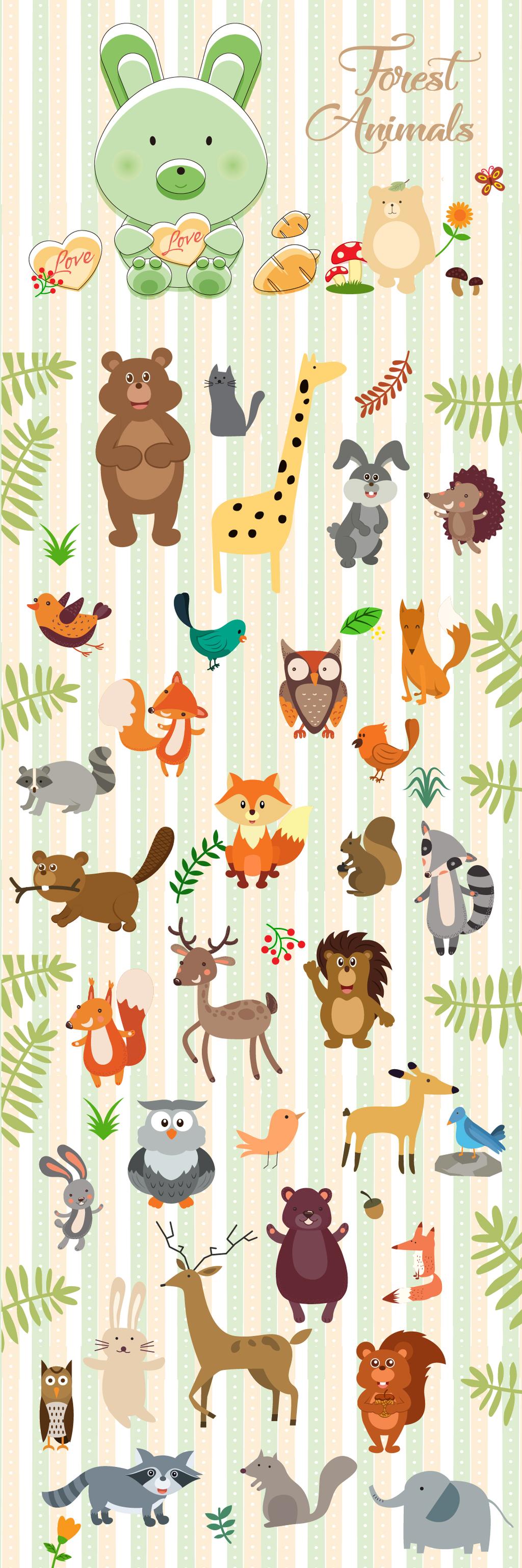 q版小动物卡通图案