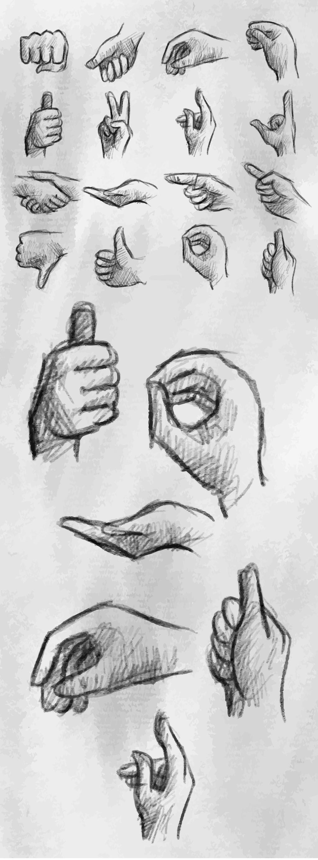 创意手势                                    胜利手势