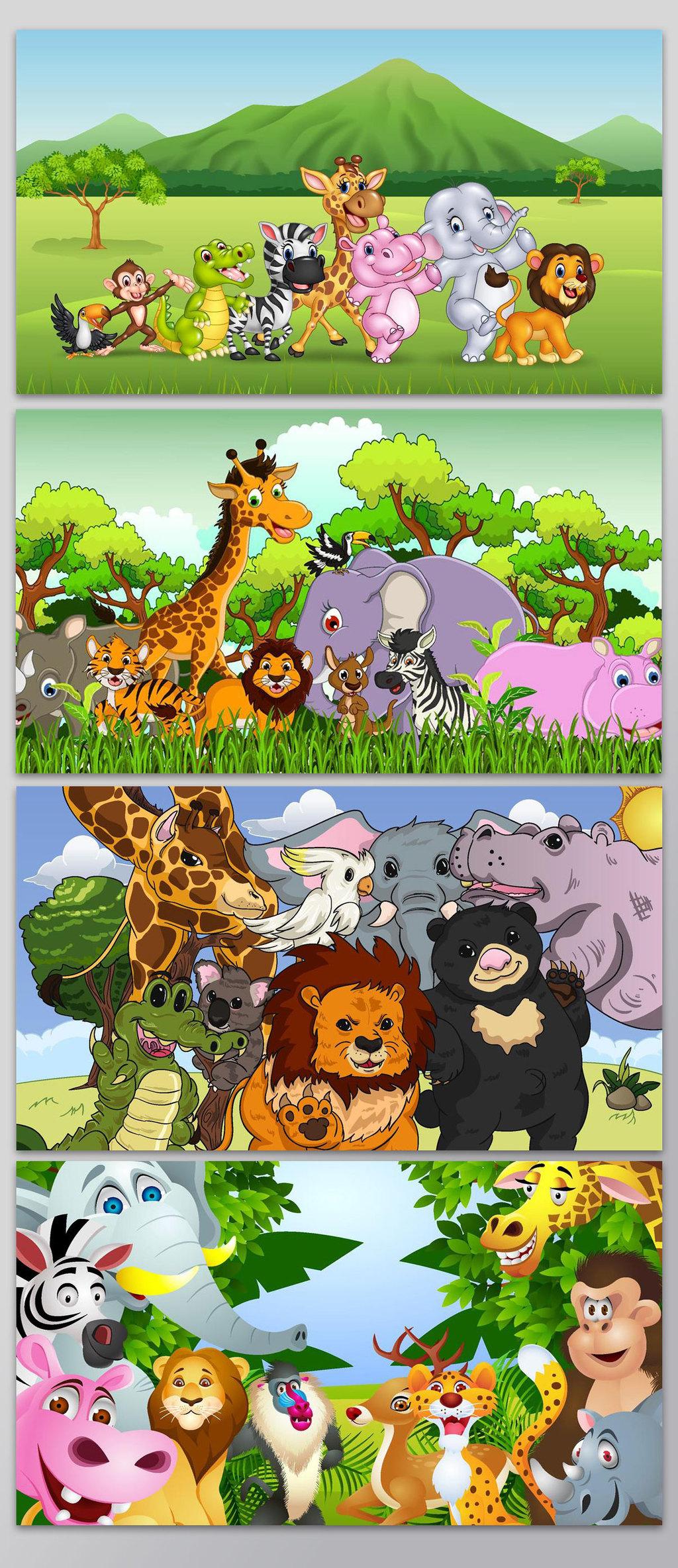 卡爱卡通森林小动物