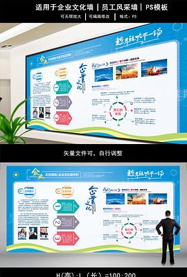 科技感企业文化墙公司简介荣誉形象墙展板